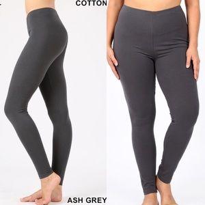 30% OFF 2/MORE REG & PLUS Cotton Legging Ash Grey
